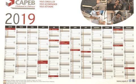 capeb71-calendrier mural 2019