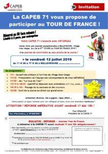 Invitation 120719 Tour de France CAPEB 71 ANTARGAZ (pour tous)